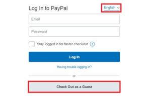pay by credit or debit card by guest account