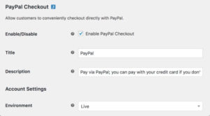 Woo Commerce along with PayPal
