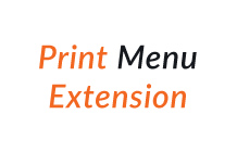 Print Menu Extension